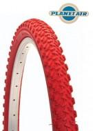 Copertone Gomma Bici 26 Pollici Misura 26x1.95 Mountain Bike Colore Rosso