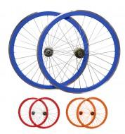 Ruote Bici FIXED PISTA 28 Pollici o 700x18/25 Cerchio 40 mm Mozzo Flip-Flop