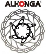 Disco Freno Bici Alhonga Pista Frenante in Acciaio INOX a 6 Fori da 160 o 180 mm