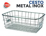 Cesto Bici Anteriore/Posteriore Rettangolare Metal INOX Anti-Ruggine