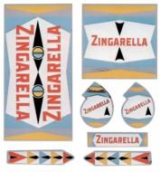 Adesivi o Decalcomanie per Telaio Bici Vintage Serie Completa ZINGARELLA