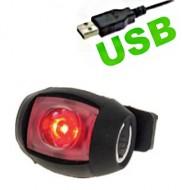 Fanale Bici Posteriore a Batteria Ricaricabile USB Silicone GUM LIGHT