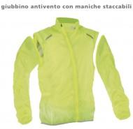 Giubbino Antivento Bici con Maniche Staccabili Giallo Fluo REFLEX