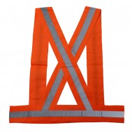 Bretella Riflettente Alta Visibilità per Ciclista o Podista Arancione Fluò