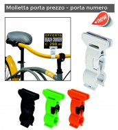 Molletta Porta-Prezzo o Numero per Bici