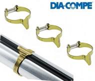 Fascette da Telaio Bici Passaguaina DIA-COMPE Colore Oro