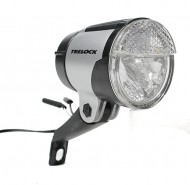 Fanale Bici per Dinamo al Mozzo con Accensione Automatica Crepuscolare e Luce di Stazionamento