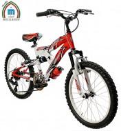 Bici 20 Pollici Bimbo da 8 a 11 anni Mtb Telaio Ammortizzato Cambio Shimano 6 Velocità Modello BIMOLLA JUMP
