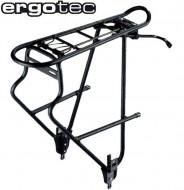 Portapacco Posteriore Bici 26 o 28 Pollici Alluminio Altezza Regolabile con Supporto PORTABORSE