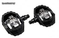 Pedali Bici DUAL SHIMANO EPDM424 Alluminio Forgiato Perno su Cuscinetto
