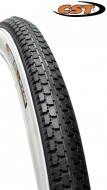 Copertone Gomma Bici 20 Pollici 20x1.75 o 47-406 CST Colore Bianco/Nero