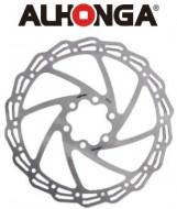 Disco Freno Bici Alhonga in Acciaio INOX alleggerito Attacco a 6 Fori da 160 mm