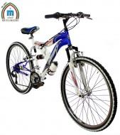 Bici 26 Pollici Mtb Telaio Ammortizzato Cambio Shimano 18 Velocità Modello BIMOLLA JUMP