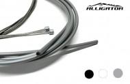 Filo Cambio Marce Bici Completo di Guaina 4 mm Anteriore e Posteriore Colore Nero Grigio Bianco