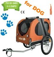 Carrellino Bici Portacane Trasporto Cane o Animali