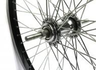 Ruota Bici 20 BMX o Graziella Rinforzate 48 Raggi Cerchio Nero