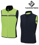 Gilet Antivento Bici Compatto Reversibile Giallo Fluo Reflex TUCANO NANO SWITCH