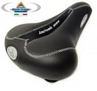 Sella Bici Antiprostata con Foro Centrale a Base Larga Comfort