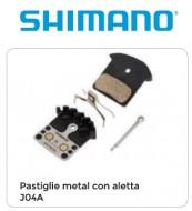 Pastiglie Freno Bici a Disco SHIMANO Metal con Alette Modello J04A