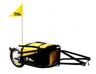 Carrello o Carretto Bici da Viaggio Cicloturismo per Trasporto Bagagli o Merci Pieghevole in Alluminio