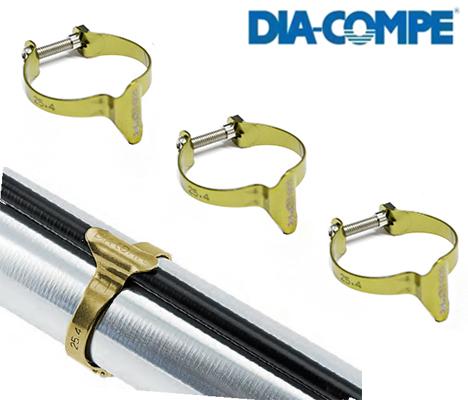 kit fascette fermaguaina 28,6mm oro 3 pezzi DIA-COMPE Ricambi