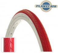 Copertone Gomma Bici 26 Pollici Misura 26x1.3/8 o 35-590 Colore Rosso con Fascia Bianca