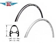 Cerchio Ruota Bici Corsa 28 Pollici in Alluminio 32 o 36 Fori Profilo 25 mm NISI