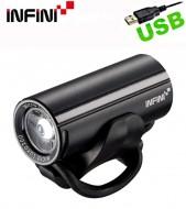 Fanale Bici Anteriore Batteria Ricaricabile USB LED Bianco 200 LUMEN