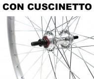 Ruota Bici 26x1.3/8 o 35-590 in Alluminio Mozzo su Cuscinetto Anteriore o Posteriore 1 Velocità