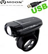 Fanale Bici Anteriore Alta Luminosità Ricaricabile USB Moon Meteor 200 lumen