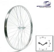 Ruota Bici Bacchetta o Erre 26x1.1/2 in Acciaio Cromato Anteriore o Posteriore