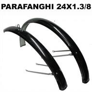 Parafanghi Bici 24 Pollici in Metallo Colore Nero