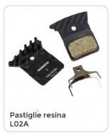 Pastiglie Freno Bici a Disco SHIMANO Resina Modello L02A