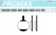 Pastiglie Freno a Disco Bici per PROMAX DSK Organiche o Semimetalliche ASHIMA
