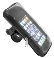 Custodia Porta Smartphone al Manubrio Bici Chiusura a Zip Impermeabile