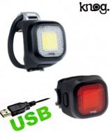 Fanale Bici Anteriore o Posteriore Batteria Ricaricabile USB Blinder Mini