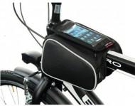 Borsetta Bici al Telaio Porta Cellulare Smartphone con Tasche Laterali