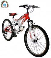 Bici 24 Pollici Bimbo da 10 a 13 anni Mtb Telaio Ammortizzato Cambio Shimano 18 Velocità Modello BIMOLLA JUMP