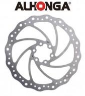 Disco Freno Bici Alhonga in Acciaio INOX a 6 Fori da 160 o 180 mm