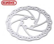 Disco Freno Bici ELVEDES in Acciaio INOX a 6 Fori diametro 140 - 160 - 180 mm