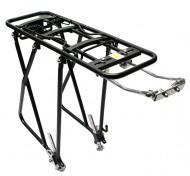 Portapacco Posteriore Bici 26 o 28 Pollici in Alluminio con Aste Regolabili