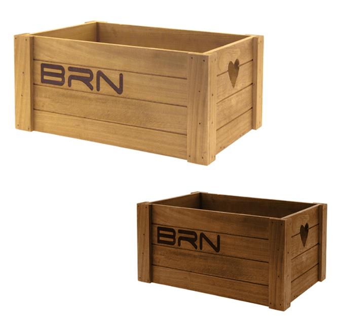 Cesto a cassetta in legno per bici forma rettangolare - Portabici in legno ...