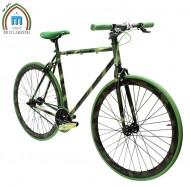 Bici 28 Pollici Telaio Uomo FIXED Single Speed Scatto Fisso Modello CAMOUFLAGE Colore Verde Militare Mimetico