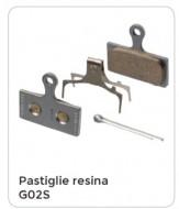 Pastiglie Freno Bici a Disco SHIMANO Resina Modello G02S