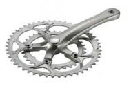 Guarnitura Bici Corsa Doppia Corona Compact in Acciaio
