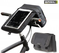 Borsa Bici Fissaggio al Manubrio ad Innesto Rapido con Porta-mappe o Tablet