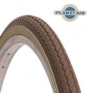 Copertone Gomma Bici 26 Pollici Misura 26x1.3/8 o 35-590 Colore Marrone con Fascia Crema
