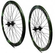 Ruote Bici FIXED o PISTA 28 Pollici 700x18/25 Cerchio Profilo 40 mm Colore MIMETICO MILITARE