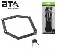 Lucchetto Antifurto Bici in Acciaio Snodabile Spessore 3.5 mm