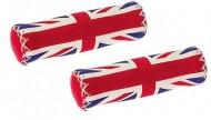 Manopole Bici Semilpelle Imbottite Fantasia Bandiera Inglese British Style